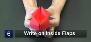 Fold an origami paper game
