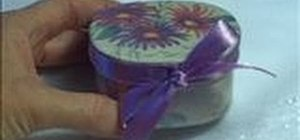 Decorate a gift box or jewelry box with decoupage