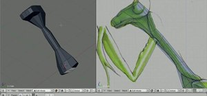 Model a 3D praying mantis in Blender