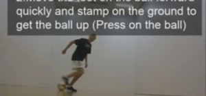Do the Henry Back heel freestyle soccer trick