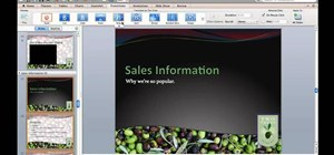 Apply slide transition effects to a PowerPoint for Mac 2011 presentation