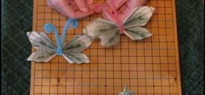 Make an origami money butterfly