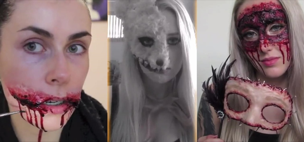 4 super gory halloween makeup tutorials for women that are scary as hell