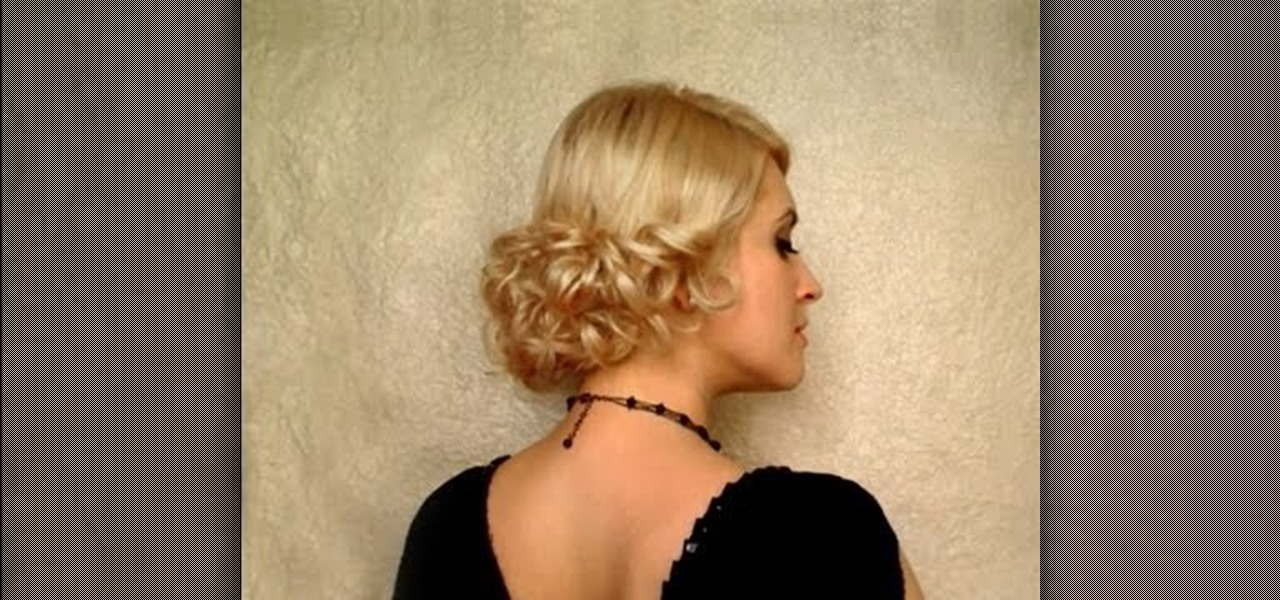 How To Create An Elegant Low Curly Bun Hairstyle For A