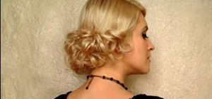 Amazing How To Create An Elegant Low Curly Bun Hairstyle For A Wedding Short Hairstyles Gunalazisus