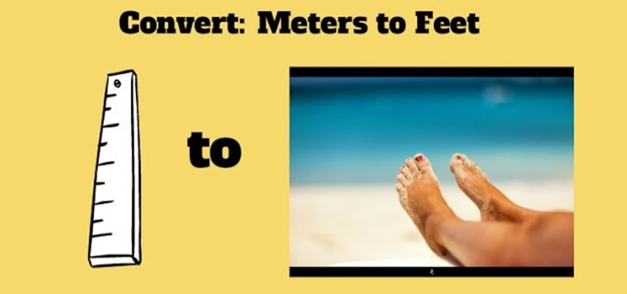 How To Convert Meters To Feet And Inches Math