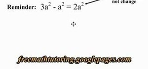 Apply the 2nd Law of Exponents