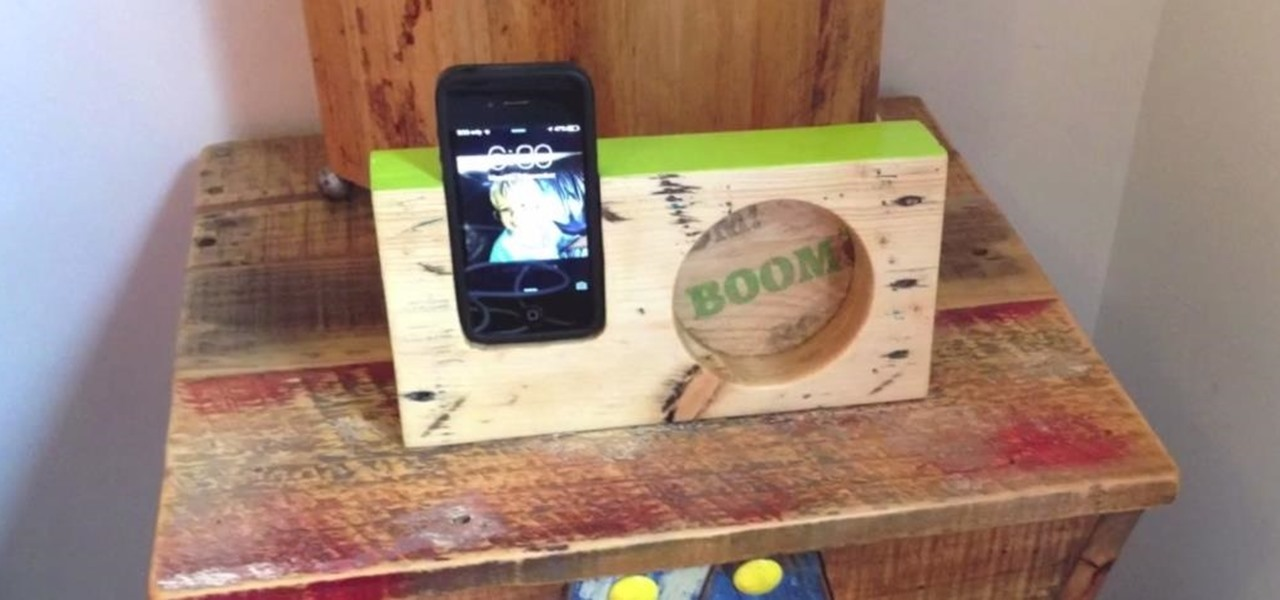 Make a Wooden iPhone Amplifier from Pallet Wood