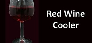 Make a red wine cooler cocktail drink