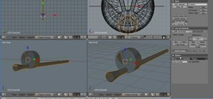 Create a model of a barrel of a machine gun in Blender