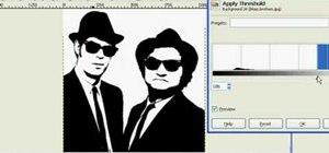 Make stencils in GIMP