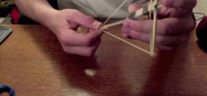 Make a toothpick crossbow