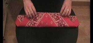 Traditionally fold a bandana