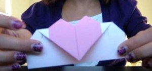 Make an origami heart with a note inside