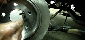 Replace your car's rear brake pad rotor