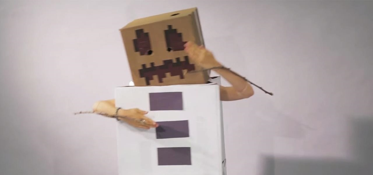 Make a DIY Minecraft Snow Golem Costume