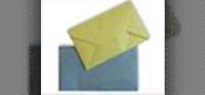 Origami a pretty paper envelope