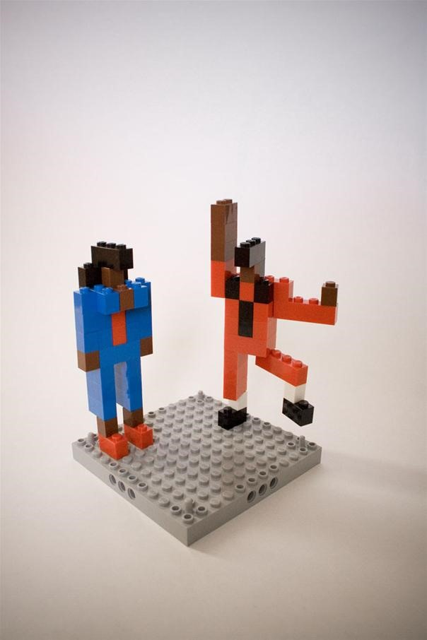 Michael Jackson's Thriller done in LEGO