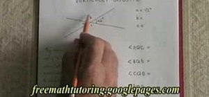 Understand the rule of vertically opposite angles