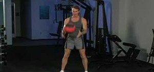 Work your core with medicine ball soccer throws