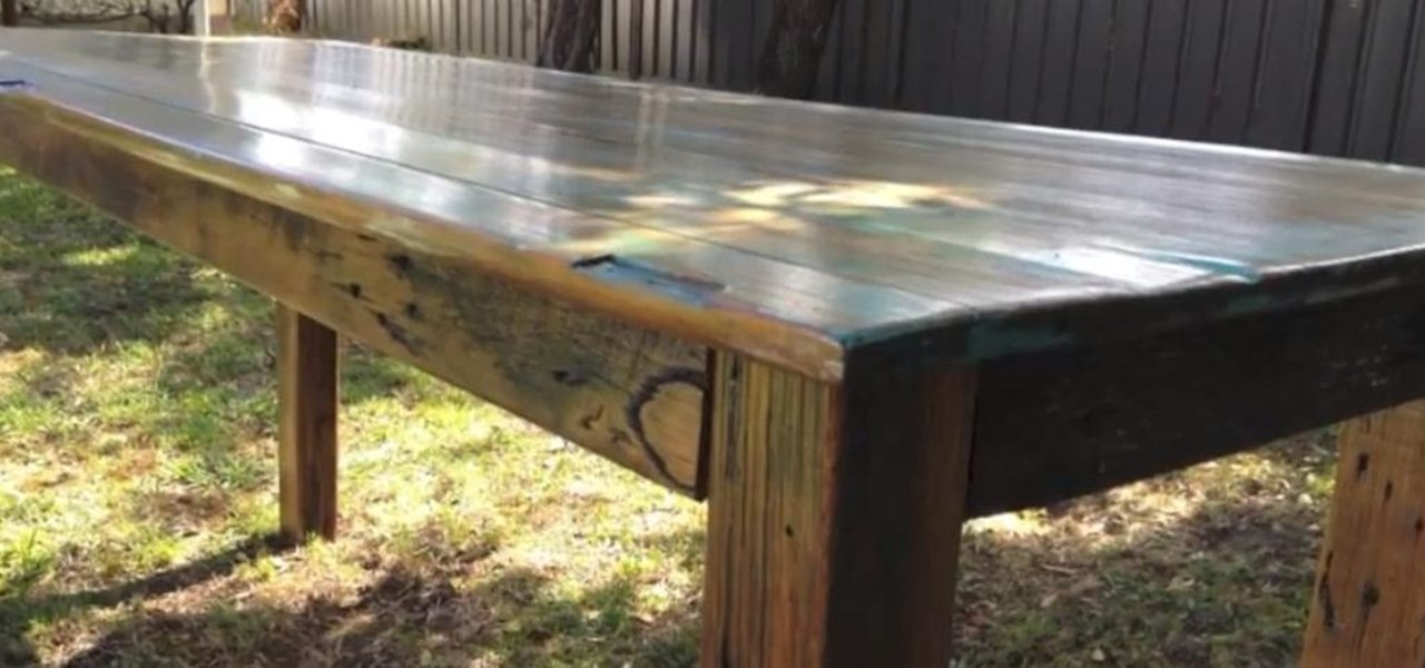 How to Build a Rustic Timber Table « Construction & Repair