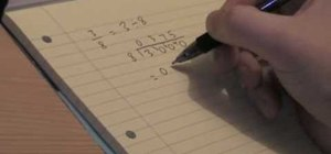 Convert a fraction to a decimal