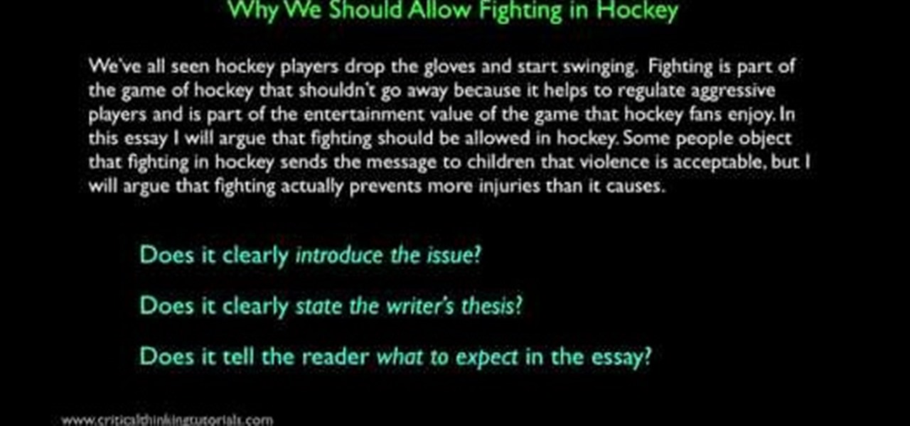 Simple Argumentative Essay