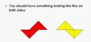 Fold an origami shuriken (ninja star)