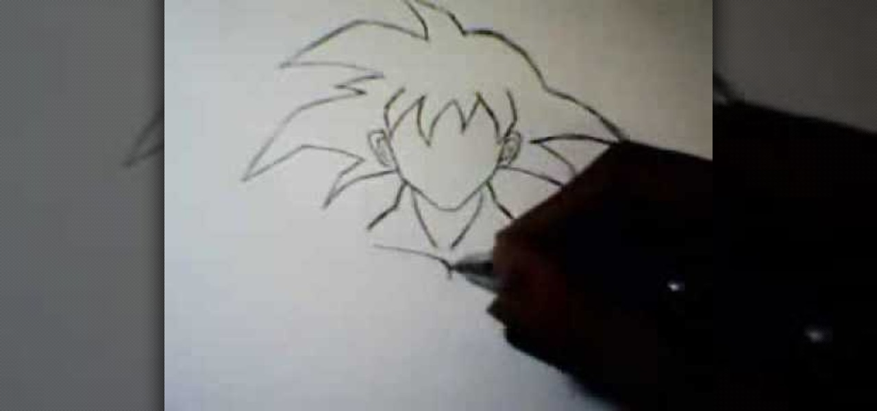how to draw dragon ball z goku
