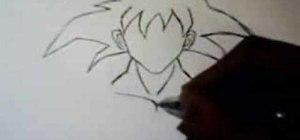 Draw DragonBall Z Goku