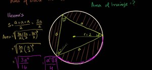 Solve area of inscribed equilateral triangle