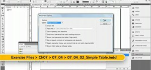 Create tables with XML in Adobe InDesign CS5