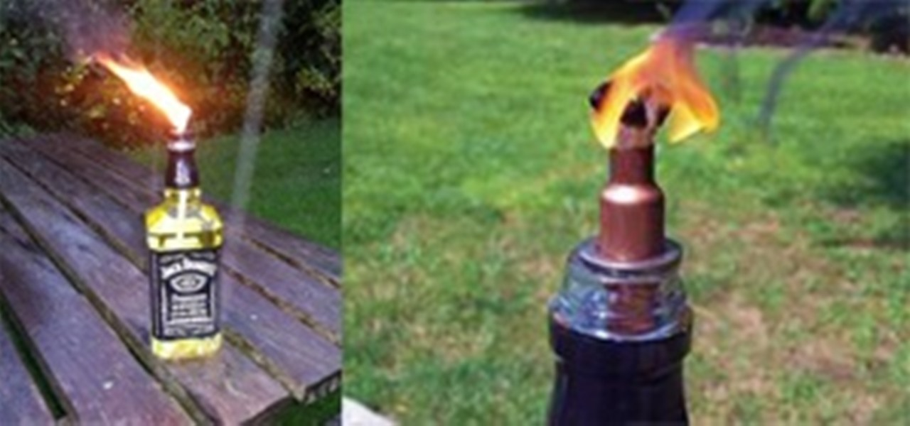 How To Make A Tiki Torch From A Bottle Of Jack Daniels