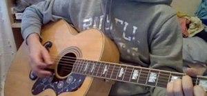 "Play ""Street Spirit"" by Radiohead on guitar"