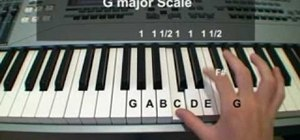 Play the G major scale on the piano by comparing to the C major scale
