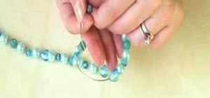 Make a beaded candle decoration