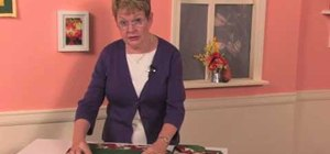 Create a set of quilted holiday placemats
