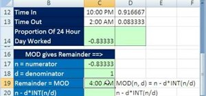Do time calculations with Microsoft Excel's MOD
