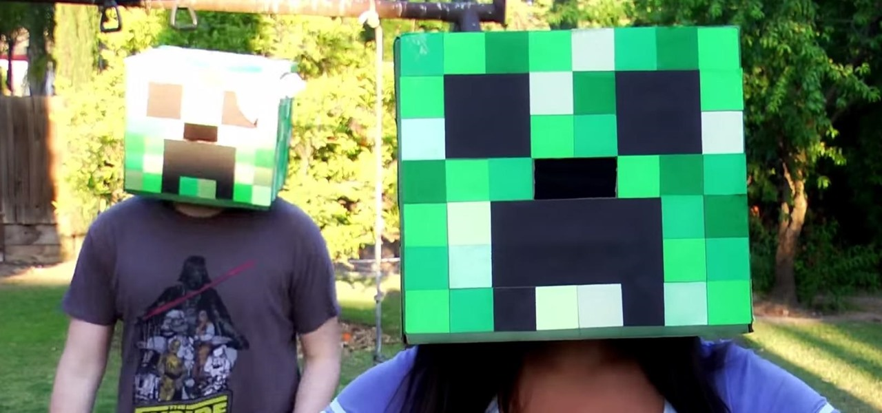 Build a Minecraft Creeper Head Halloween Costume & How to Build a Minecraft Creeper Head Halloween Costume « Halloween ...