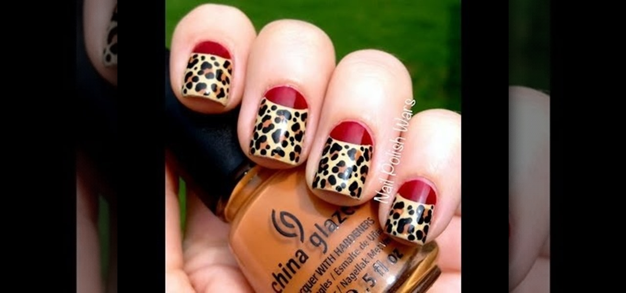 Do Half Moon Leopard Print Nails