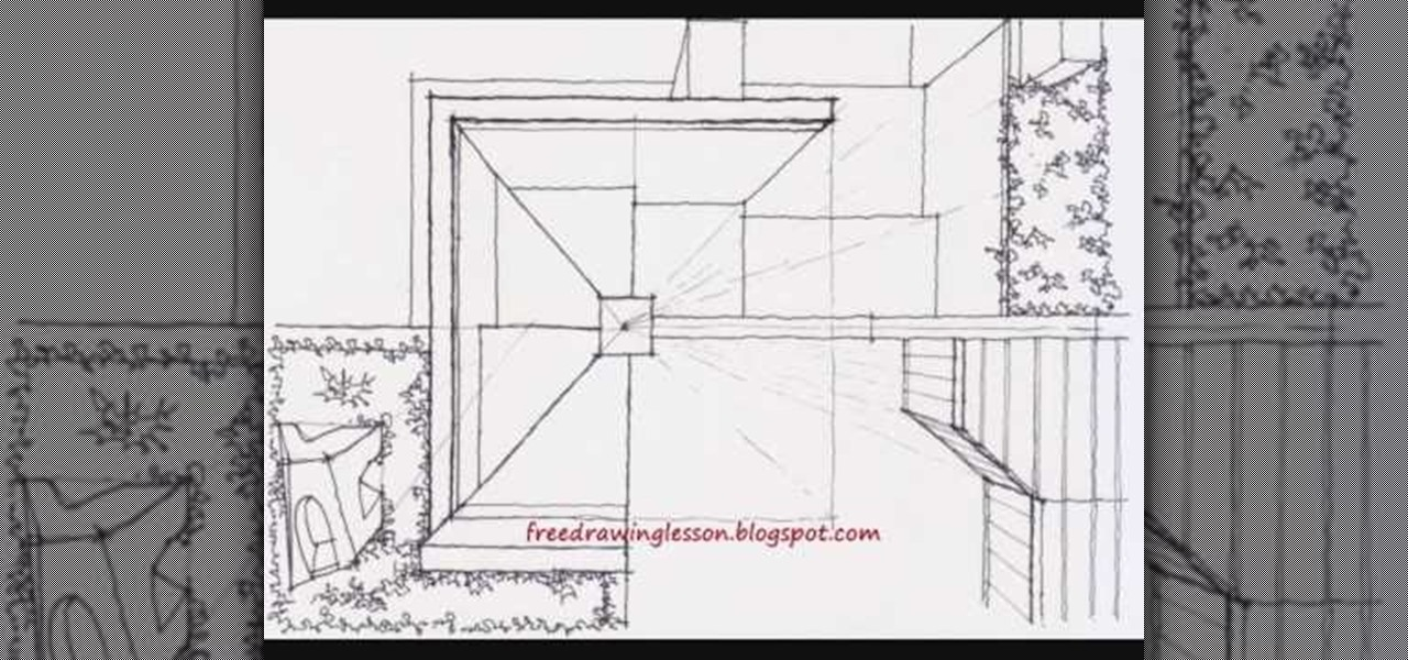 how to draw a staircase step by step