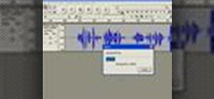 Import an MP3 file into an Audacity project