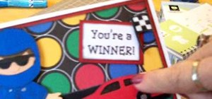 "Make a Cricut ""you're a winner"" birthday card"