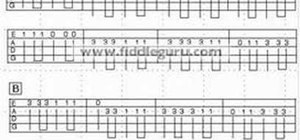 Read fiddle tablature