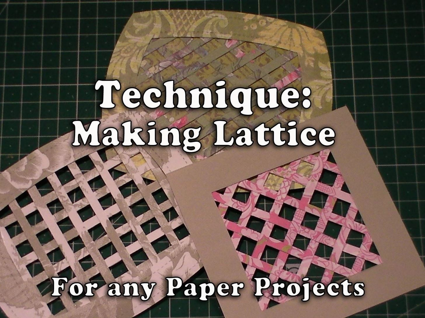 How to Make Your Own Lattice for Your Crafts