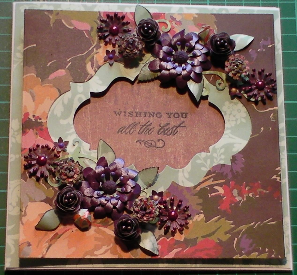 How to Make Floral Fancy Double Aperture Card