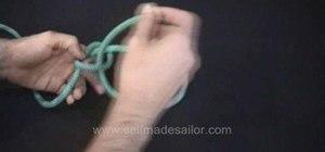 Tie a Shamrock knot / True Lover's knot