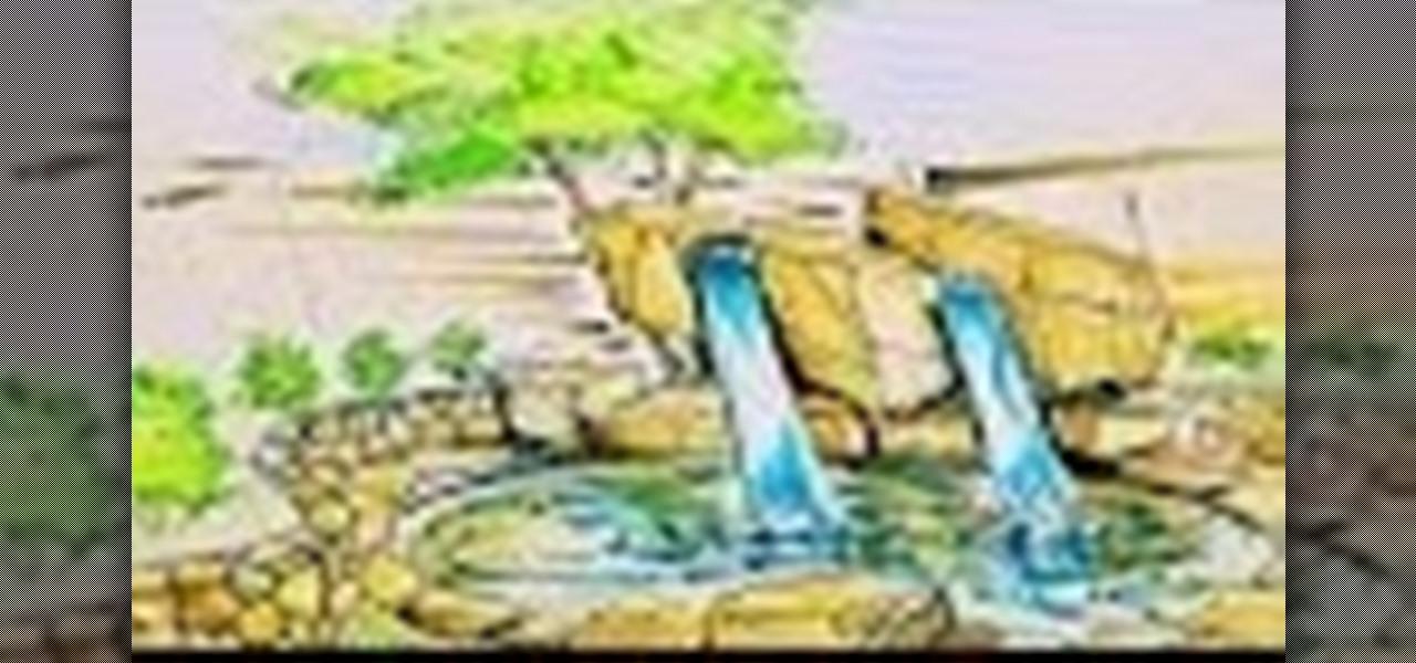 How To Draw Realistic Waterfalls Drawing Illustration Wonderhowto