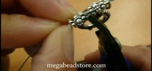 Hide a crimp bead with a crimp bead cover