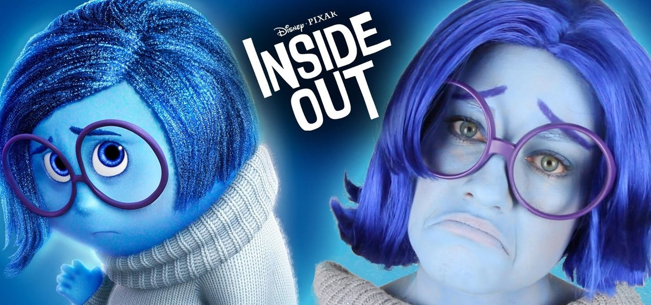 DIY Sadness Costume & Makeup for Halloween